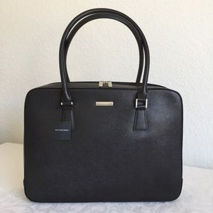 BURBERRY London black Leather Briefcase